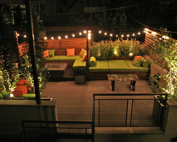 Wicker Park Evening Garden