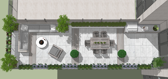 Chicagogardens Com Rooftop Landscape Garden Design